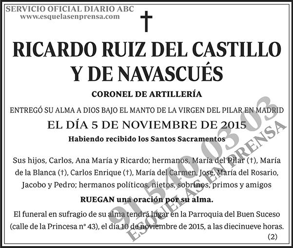Ricardo Ruiz del Castillo y de Navascués